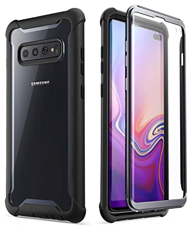 i-Blason Ares Series Designed for Galaxy S10 Plus Case Rugged Clear Bumper Case with Built-in Screen Protector for Samsung Galaxy S10 Plus 2019 [NOT ...