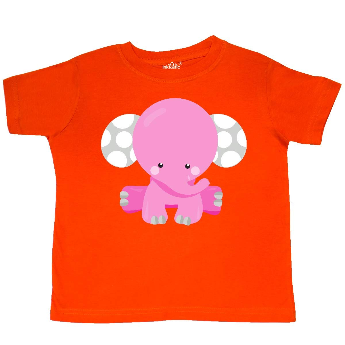 Baby Elephant Toddler T-Shirt inktastic Pink Elephant with Dotted Ears