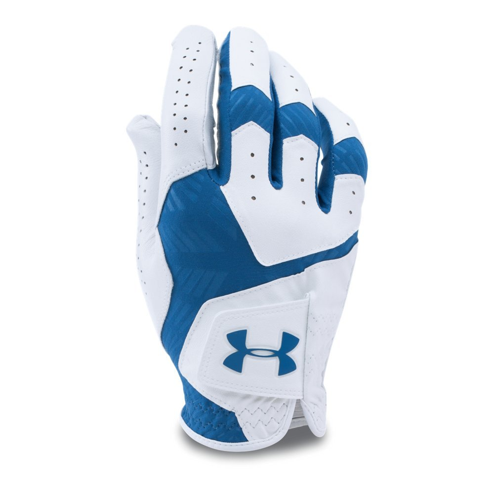 Under Armour Men's CoolSwitch Golf Glove, White /Squadron, Left Hand Small Cadet