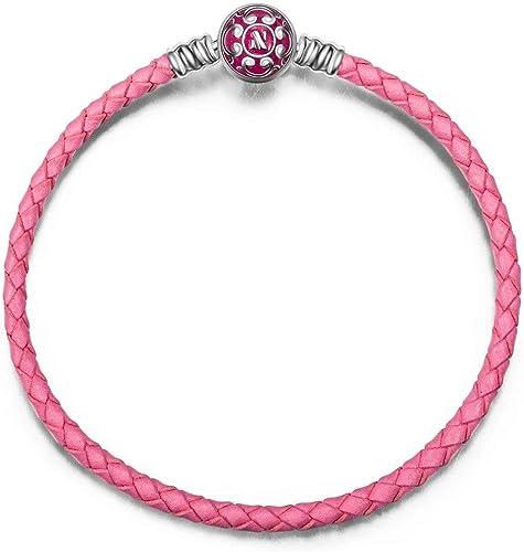 bracelet cuir rose pandora