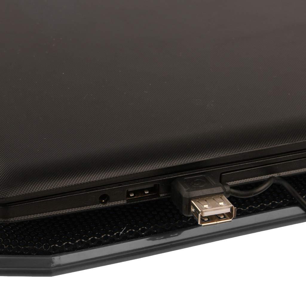 10-17 Zoll Shiwaki Ultra Leise Notebook Laptop K/ühler K/ühlpad St/änder Unterlage Halterung St/ützhalterung Schwarz