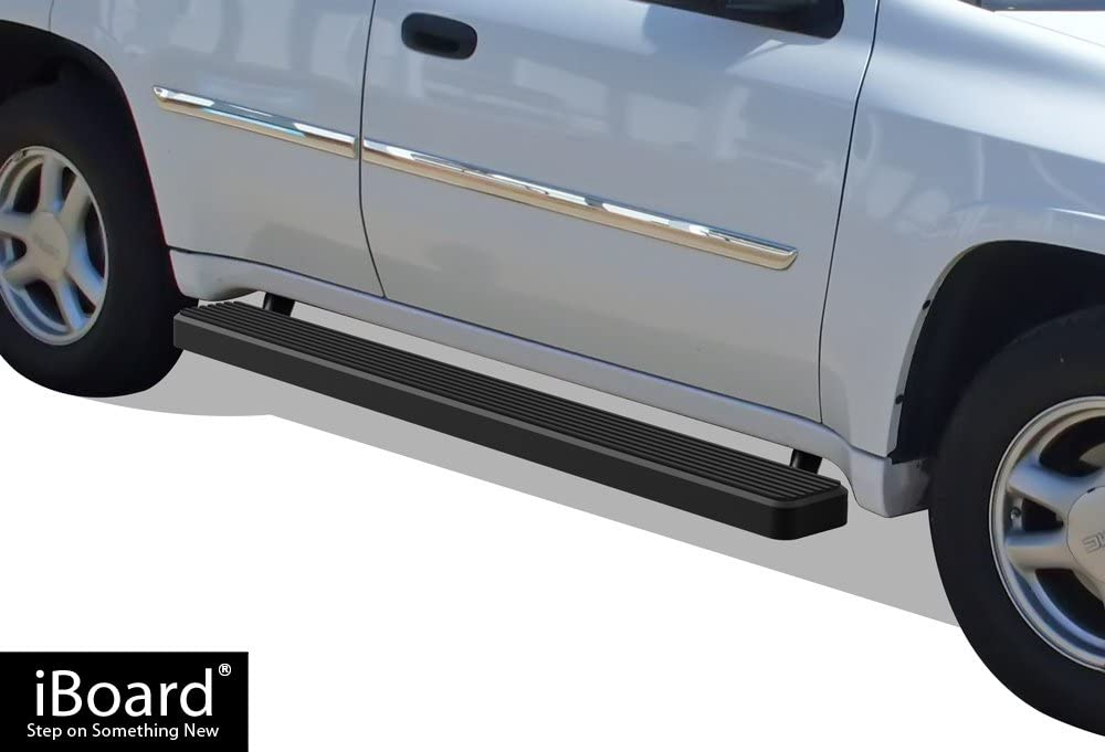 APS IBCZ4977 Black 5 Running Board iBoard Third Generation, for Selected Chevy Avalanche//Suburban//GMC Yukon XL, Aluminum