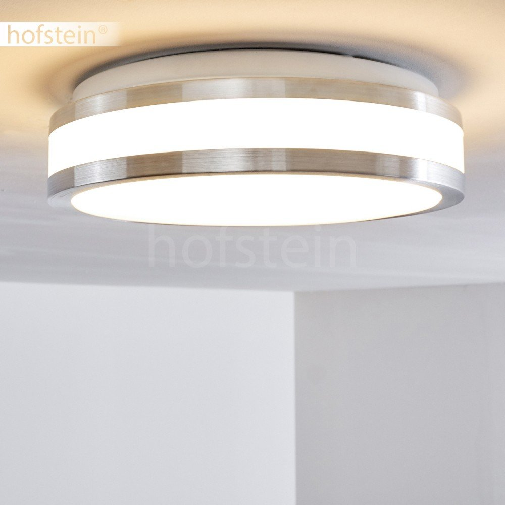 Led Ceiling Lamp Sora Made Of Metal In A Modern Design Bright Warm Brushed Satin Chrome Light Pull Cord Switch Amazoncouk Lighting White For The Bathroom Living Room Kitchen Or Hallway