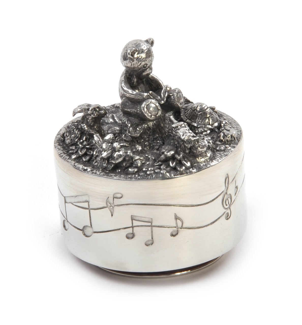 Royal Selangor Hand-Finished Teddy Bears' Picnic Friends Music Carousel in Wooden Gift Box D7CM x H8CM (item) BabyCentre 6432RG