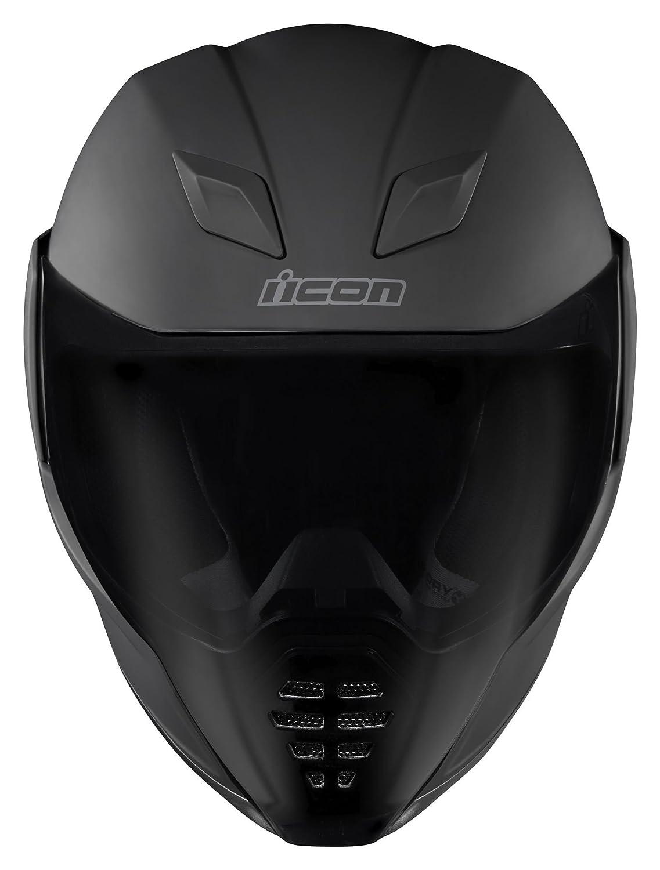 Icono Airflite rubatone mate negro casco de moto