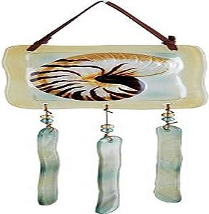 Premier Kites 81191 Terra Glass Chime/Wind Bells, Nautilus