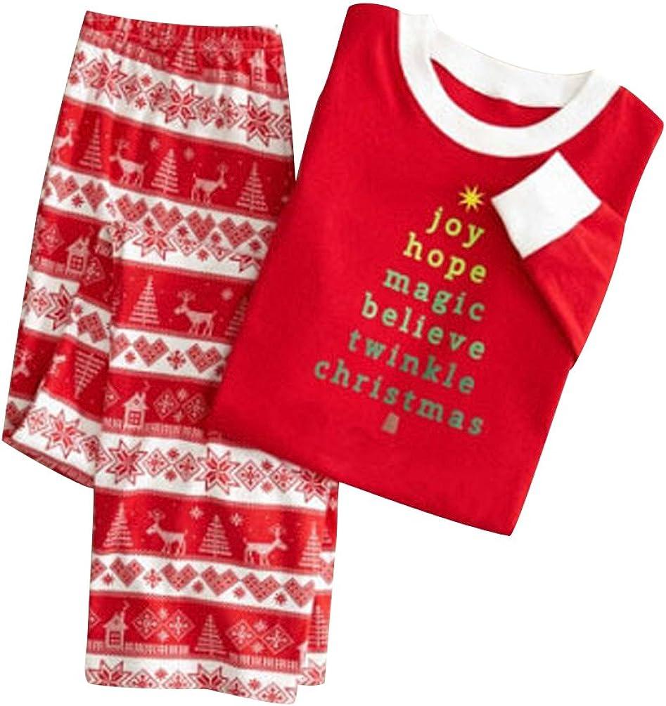 Pijamas de Navidad Familia Pijamas Navideñas Adultos Pijama Familiares Manga Larga Hombre Mujer Niños Niña Chica Bebe Rojo Trajes Navideños para ...