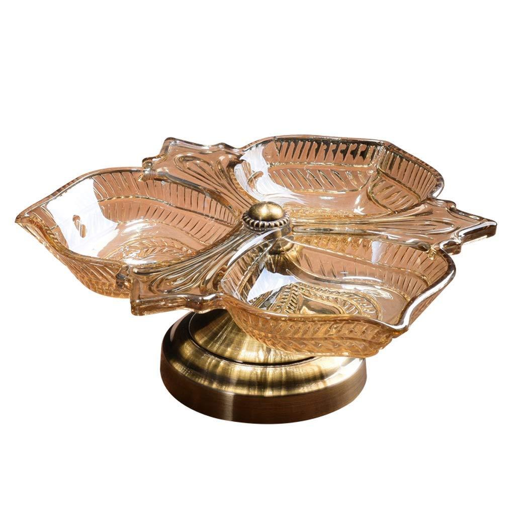SHIJIAN ヨーロッパの現代フルーツプレートクリエイティブクリスタルガラスキャンディフルーツボウルリビングルームのコーヒーテーブルダイニングテーブルホテルクラブの装飾ドライフルーツ収納ボックス   B07MFV7LSW