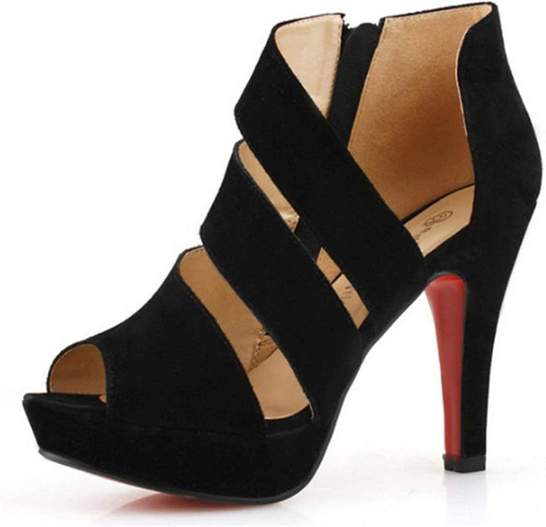 Summer Gladiator High Heels Sandals Casual Shoes Woman Waterproof Platform Sandals
