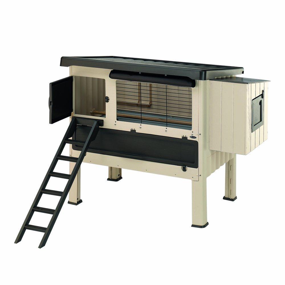 ferplast 57320000 h hnerhaus happy farm 120 ma e 140 x 139 x 110 cm beige g nstig kaufen. Black Bedroom Furniture Sets. Home Design Ideas