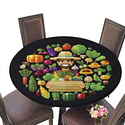 Amazon.com : Round Table in Washable Polyeste Fresh Food ...