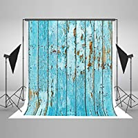 Kate 6.5x10ft Blue Wood Wall Photography Backdrop Cotton Seamless Vintage Wooden Wall Texture Photo Background