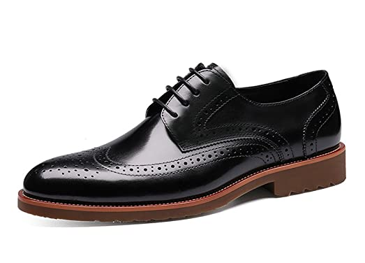Men's Elegant Pearl Grain Daily Shoes with Buckle