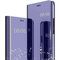 KISCO para Espejo Flip Funda XiaoMi RedMi Note 8 Pro,Funda Espejo ...
