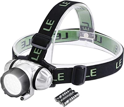 LE LED Headlamp Flashlight, Headlight with Red Light