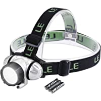 LE LED Headlamp Flashlight, Headlight with Red Light, Water Resistance, Adjustable for Kids and Adults, Perfect Head…