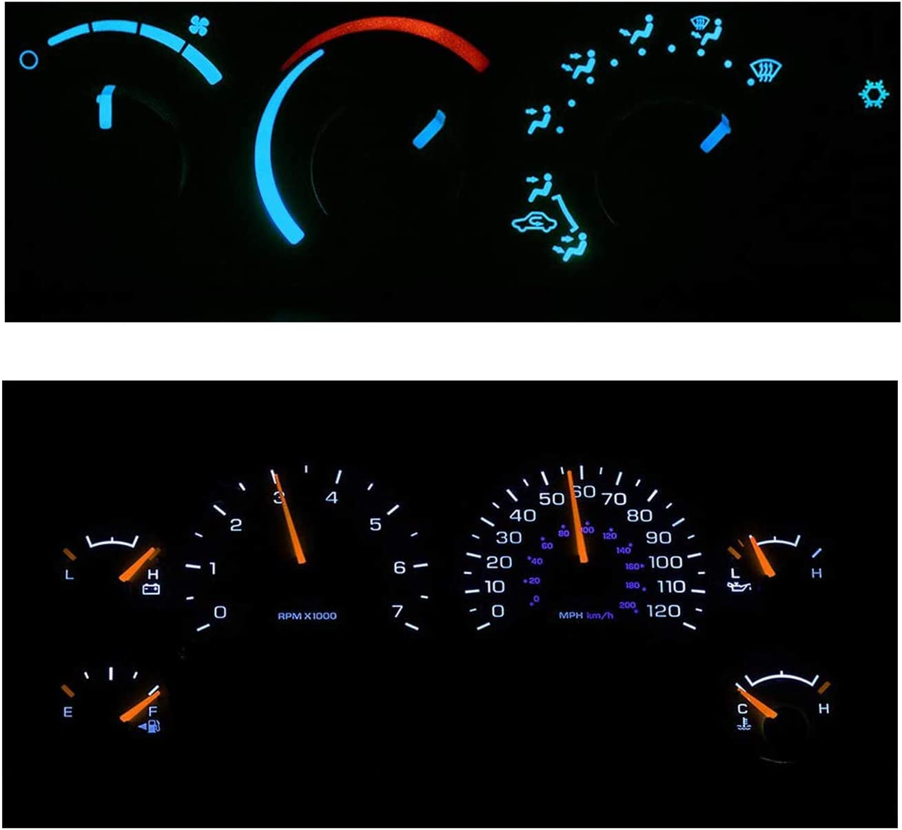 HERCOO LED Lights Bulbs Kit of AC Climate Heater Control /& Instrument Gauge Cluster Speedometer Compatible with 2003-2008 Dodge Ram 1500 2500 3500 Aftermarket Replacement