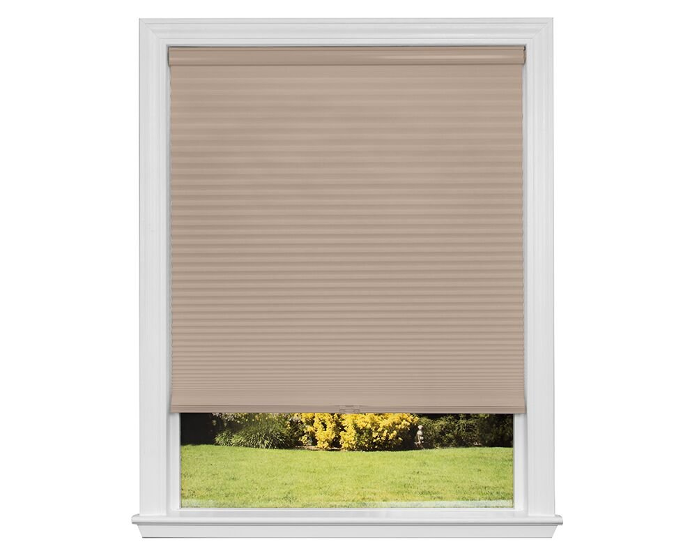 Artisan Select No Tools Custom Cordless Cellular Blackout Shades, Khaki, 34 5/8 in x 72 in SHDL7 Z14C3451420