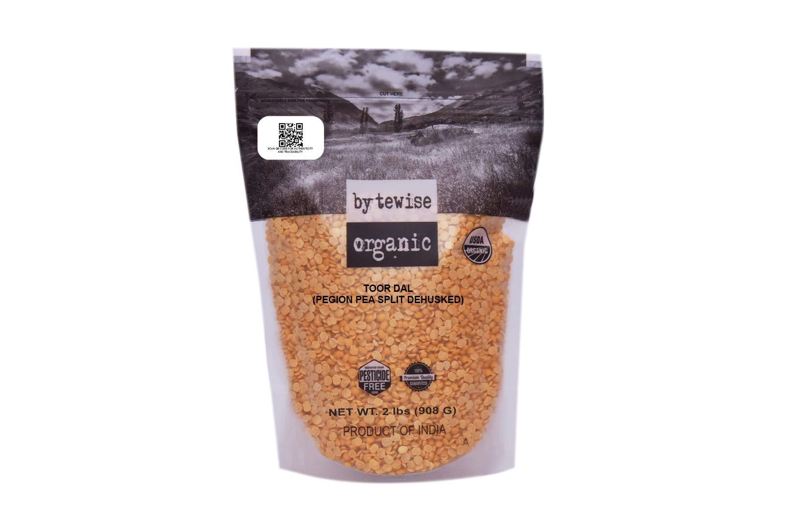 Bytewise Organic Pigeon Pea Split Lentil/Toor Dal, 2lb