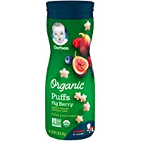 GERBER Organic Puffs, 42g, Fig Berry,