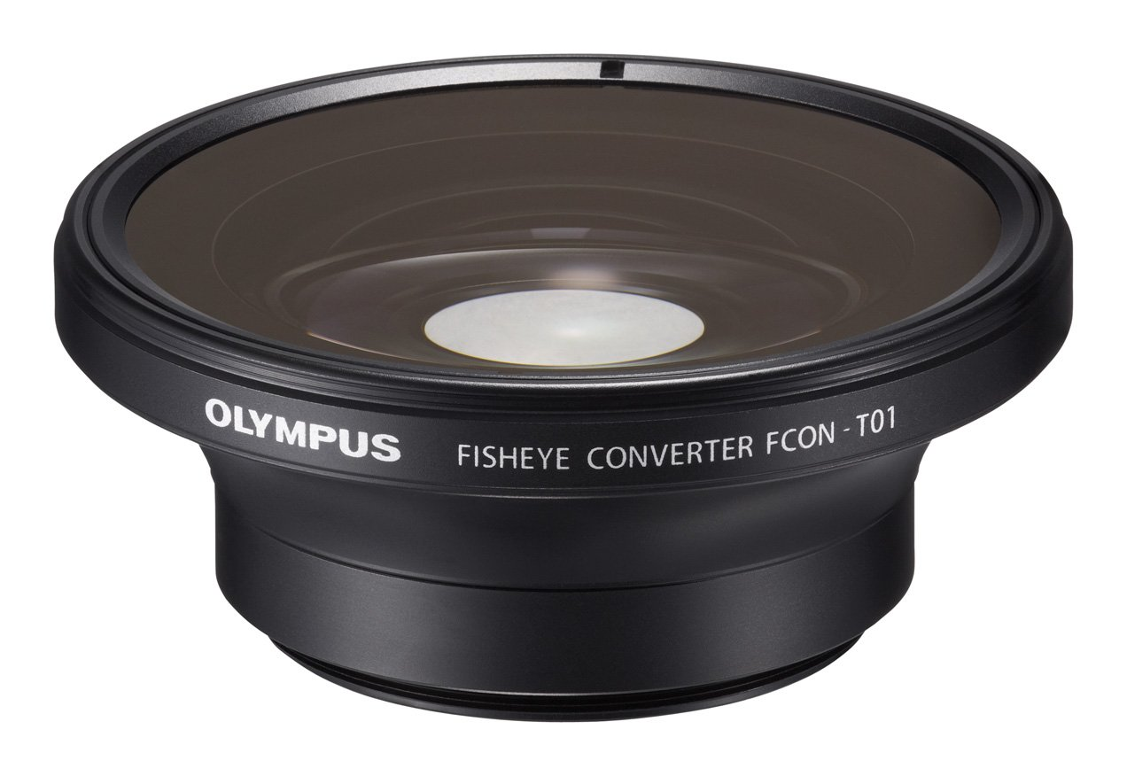 Olympus Fisheye Tough Lens Pack for TG-1 and TG-2 Cameras, Black with Red Adapter V321190BW010