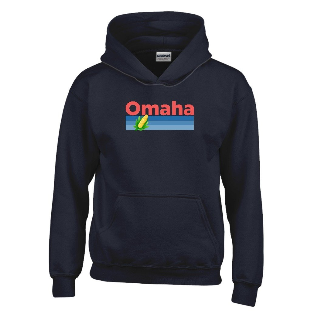 Nebraska Kids Sweatshirt Tenn Street Goods Omaha Retro Corn /& Farm Youth Hoodie