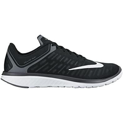 Nike Mens FS Lite Run 4 Running Shoe BlackWhiteAnthraciteCool Grey