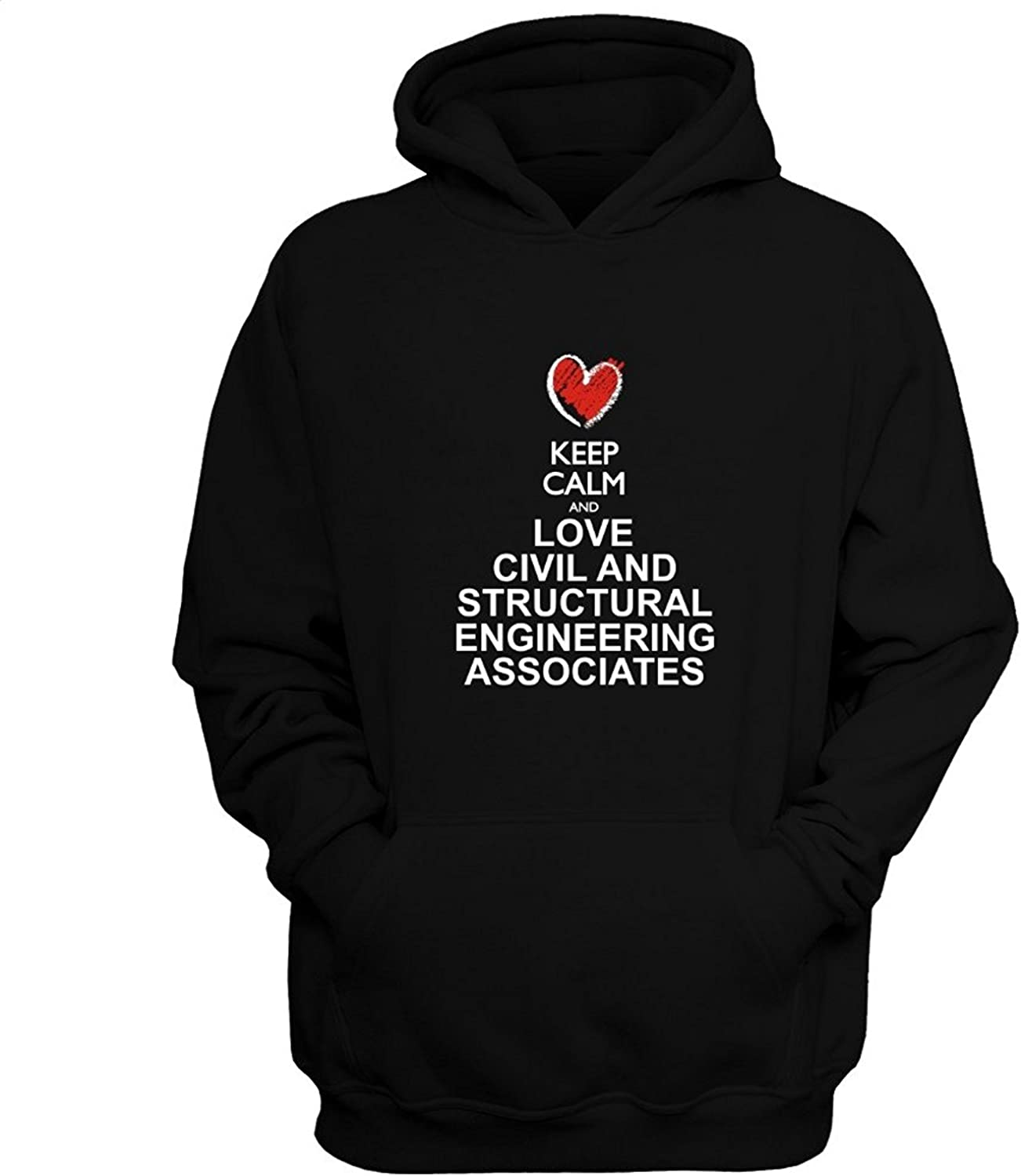 JiuJiuksd Keep calm and love Civil And Structural Engineering Associates chalk Hoodie