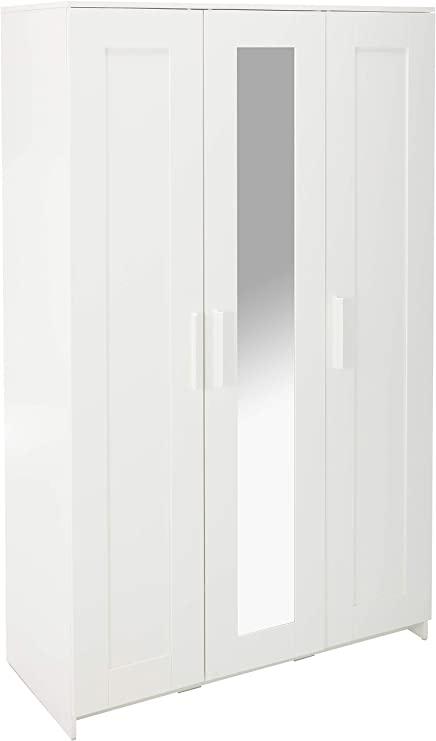 Armario Brimnes con 3 puertas. Blanco: Amazon.es: Hogar