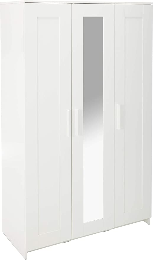 Armadio Ikea 4 Ante.Amazon Com Ikea Brimnes Home Bedroom Wardrobeswardrobe With 3 Doors White 103 947 18 46x74 3 4 Multicolor