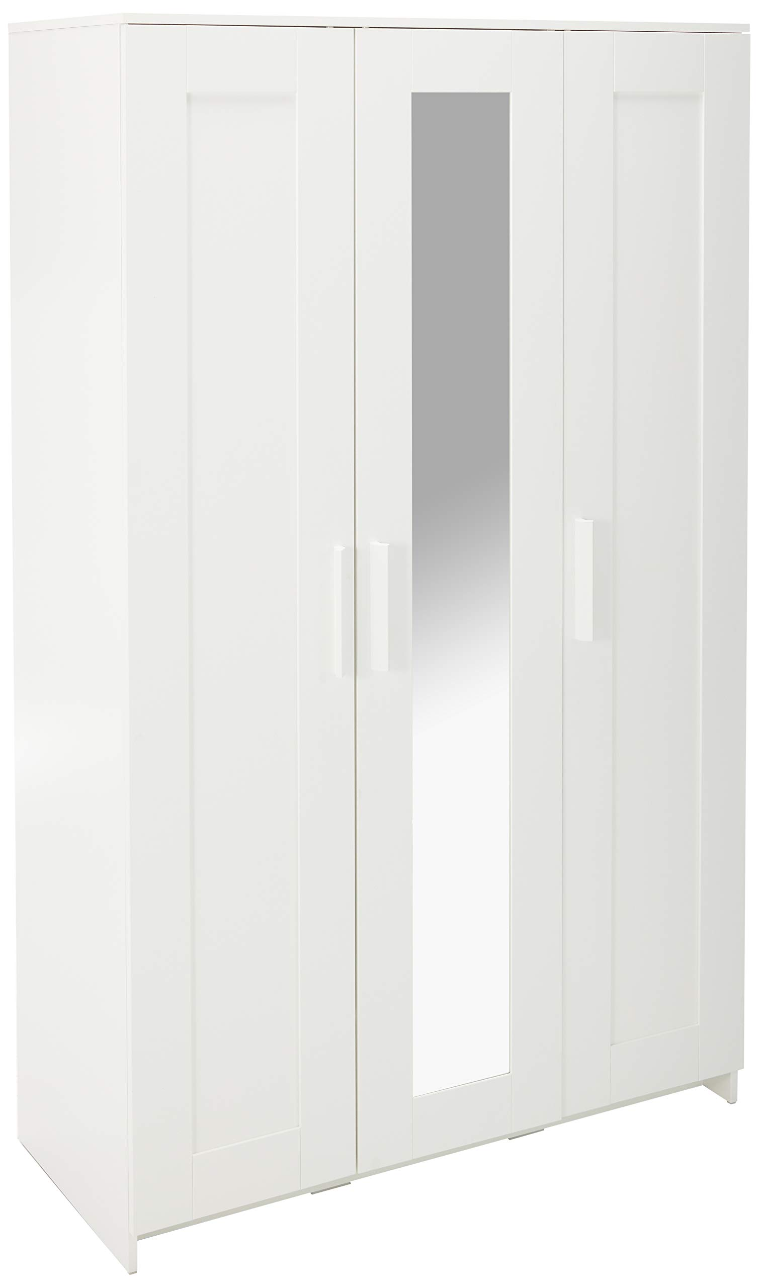 IKEA Brimnes Home Bedroom Wardrobeswardrobe with 3 Doors, White 103.947.18, 46x74 3/4'''', Multicolor by IKEA