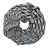 NFL Detroit Lions Infinity Space Dye Cozy Scarf, One Size, Light Gray/Black/White