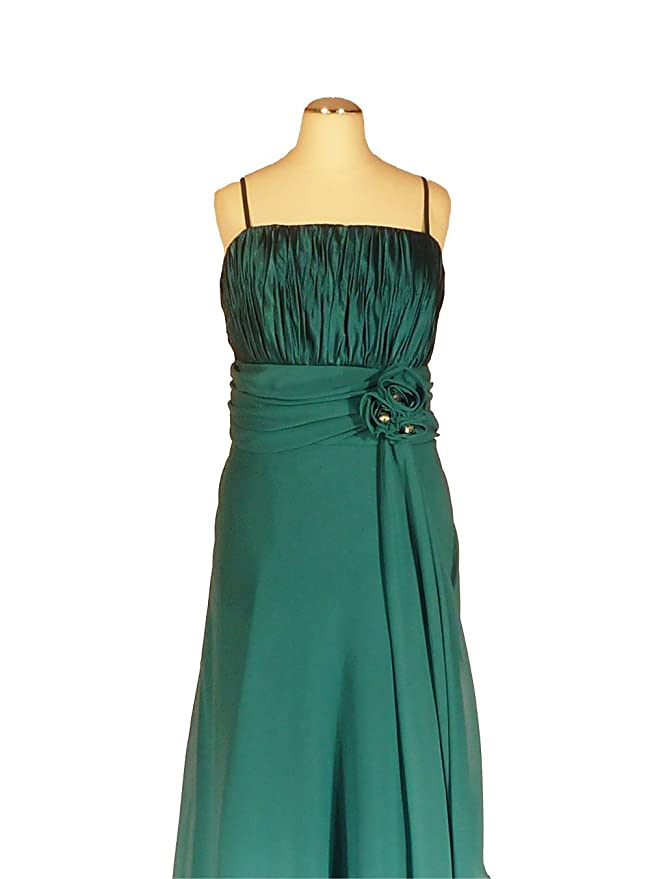 terciopelo Lebe® - Elegante gasa vestido para vestido de noche elegante largo C654 1 piezas) en color azul, talla 34 - 50 Incluye estola petróleo 48: ...