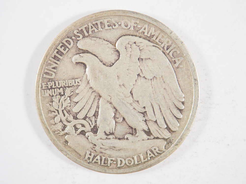 1946 S 50C Walking Liberty Half Dollar Very Fine VF Silver Coin