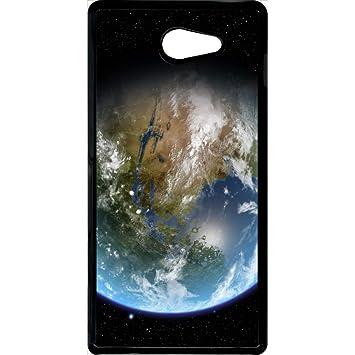 Carcasa Sony Xperia M2 tierra vista espacio: Amazon.es ...
