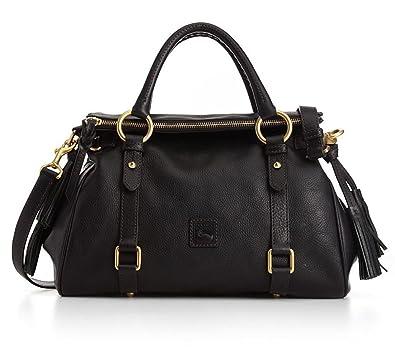 2487d10f663 Dooney   Bourke Florentine Small Satchel Black Black Trim One Size ...