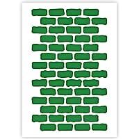 Qbix Brick Wall Pattern Stencil - A5 Size - Reusable Kids Friendly DIY Stencil for Painting, Baking, Crafts, Wall…