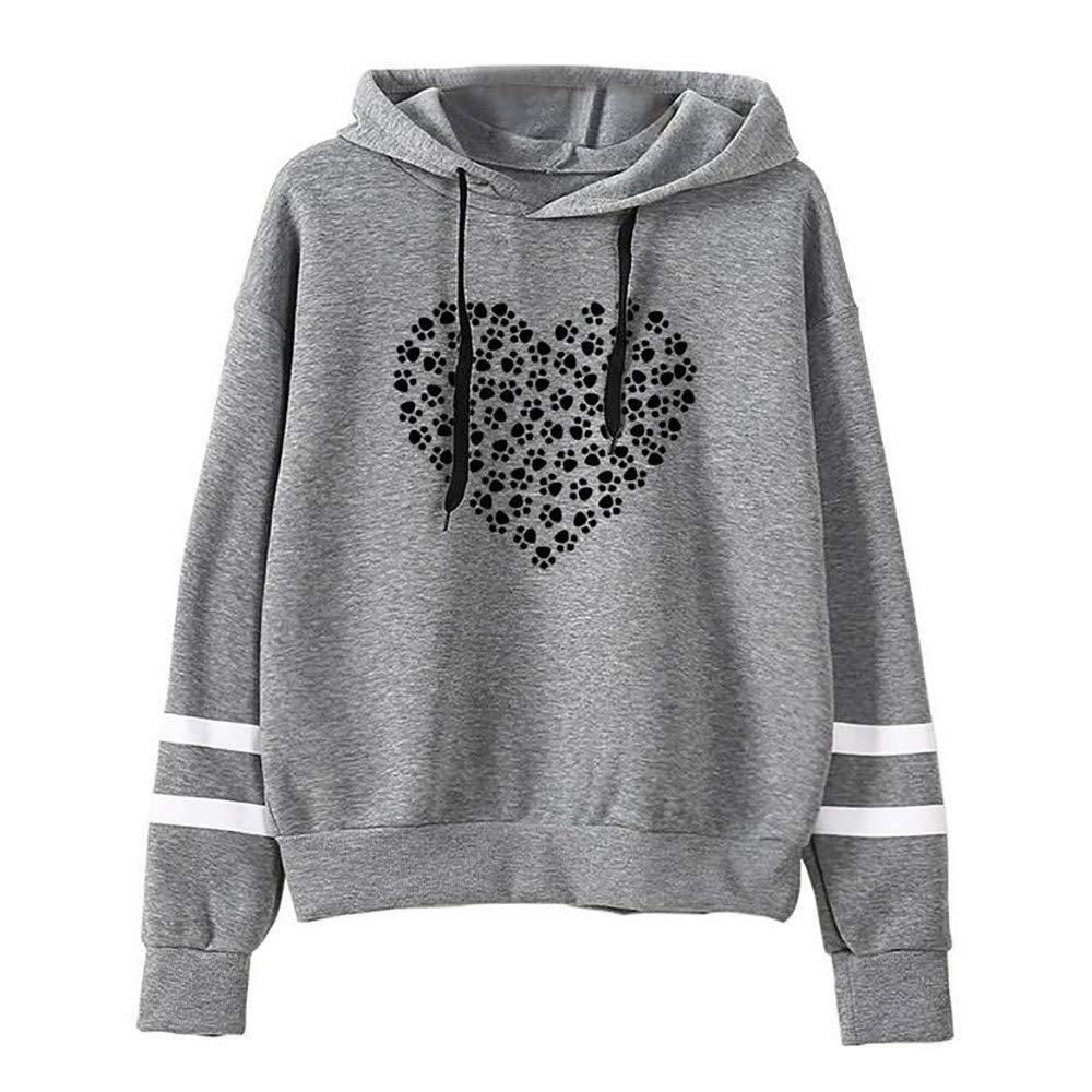 Jackets for Teen Girls Clearance Women Striped Raglan Hoodies Sweatshirts Love Print Sweaters Pullover Tops Jumper Baseball Shirts (Gray, S)