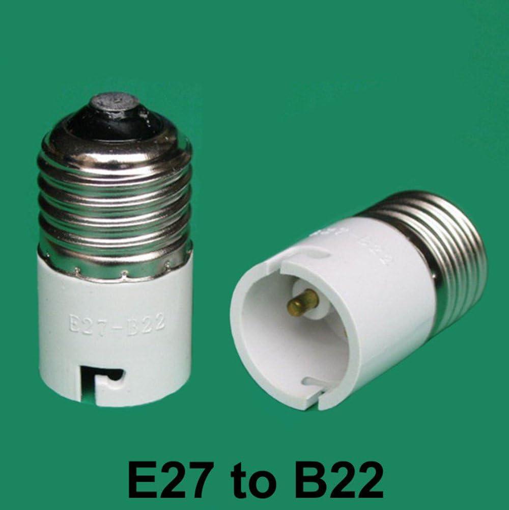 Bayonet BC B22 To Edison Screw ES E27 Light Bulb Adaptor Lamp Converter Holder