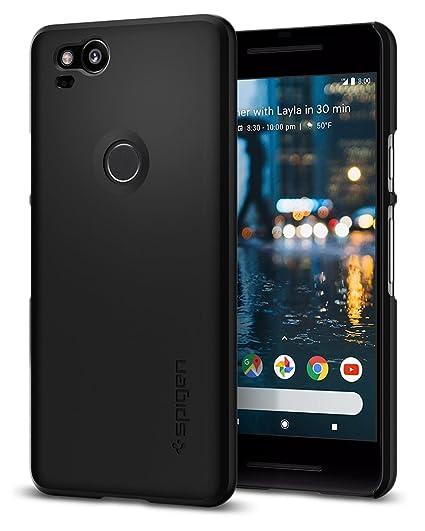 official photos 93958 cc001 Spigen Thin Fit Designed for Google Pixel 2 Case (2017) - Black