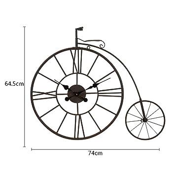 Ppy778 Bicicleta de época Reloj Metal Arte de la Pared Antigua ...