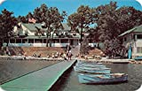 Clark Lake Michigan Pleasant View Hotel Waterfront Vintage Postcard K61950