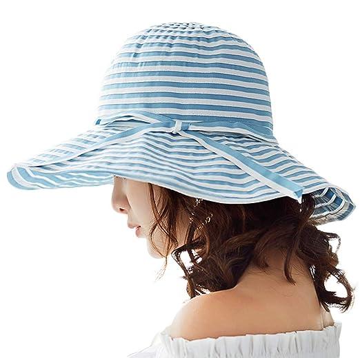 80e53bfe6c5 Lightweight Summer Sun Hats Wide Brim Gardening Hiking Travel Safari Hat  UPF SPF 50 Foldable Blue