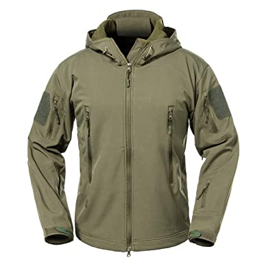8bf6a54cf78d ReFire Gear Men s Soft Shell Military Tactical Jacket Outdoor Camouflage  Hunting Fleece Hooded Coat
