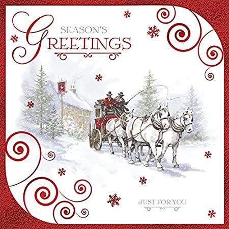 Pack Of 12 Square Charity Christmas Cards