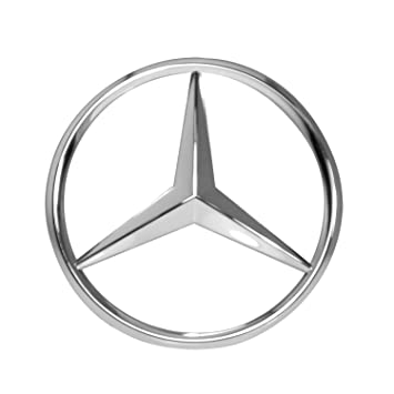 Amazon mercedes benz chrome front grill star emblem for c mercedes benz chrome front grill star emblem for c class e class voltagebd Image collections