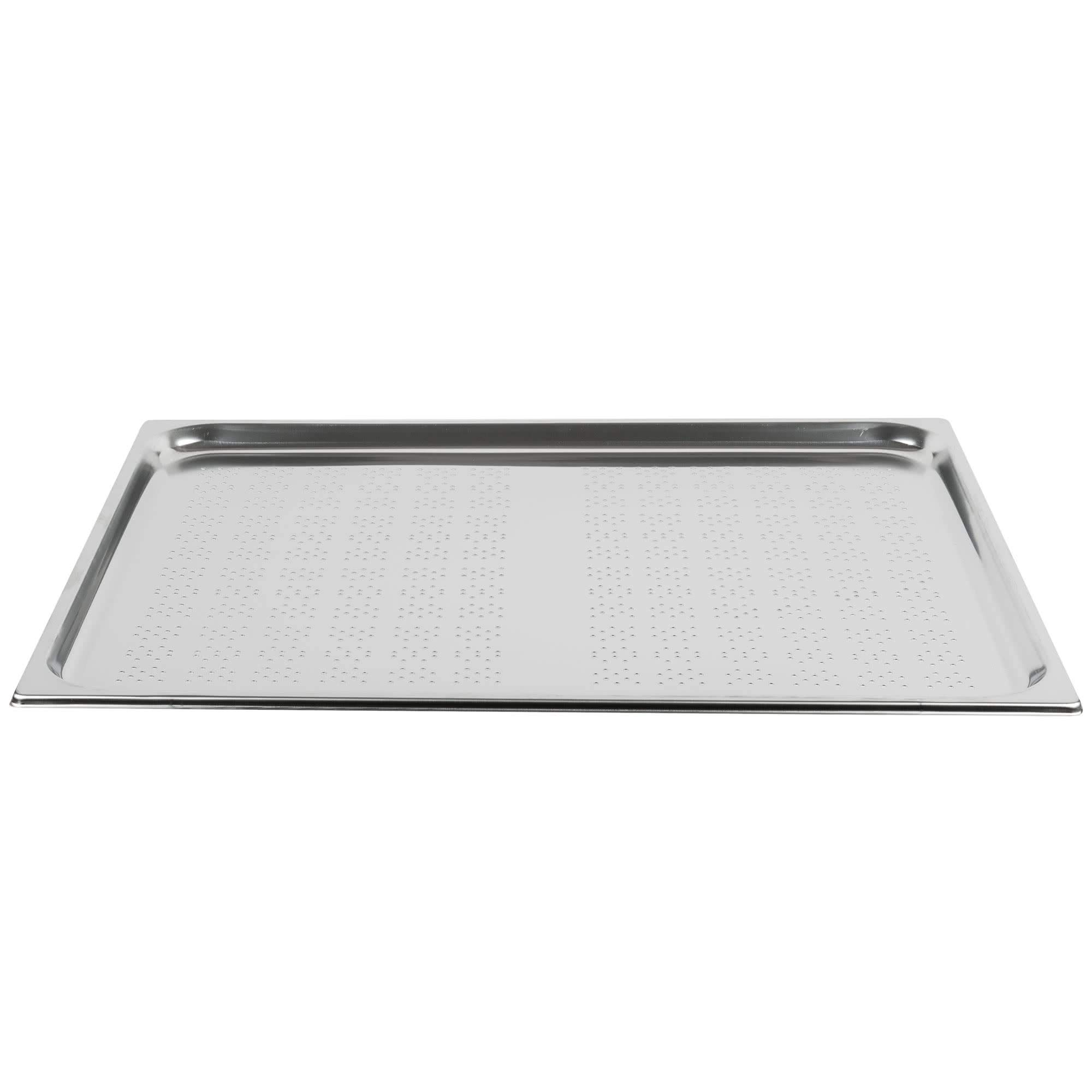 TableTop King V210202 Double Wide Perforated Stainless Steel Steam Table/Hotel Pan - 3/4'' Deep by TableTop King