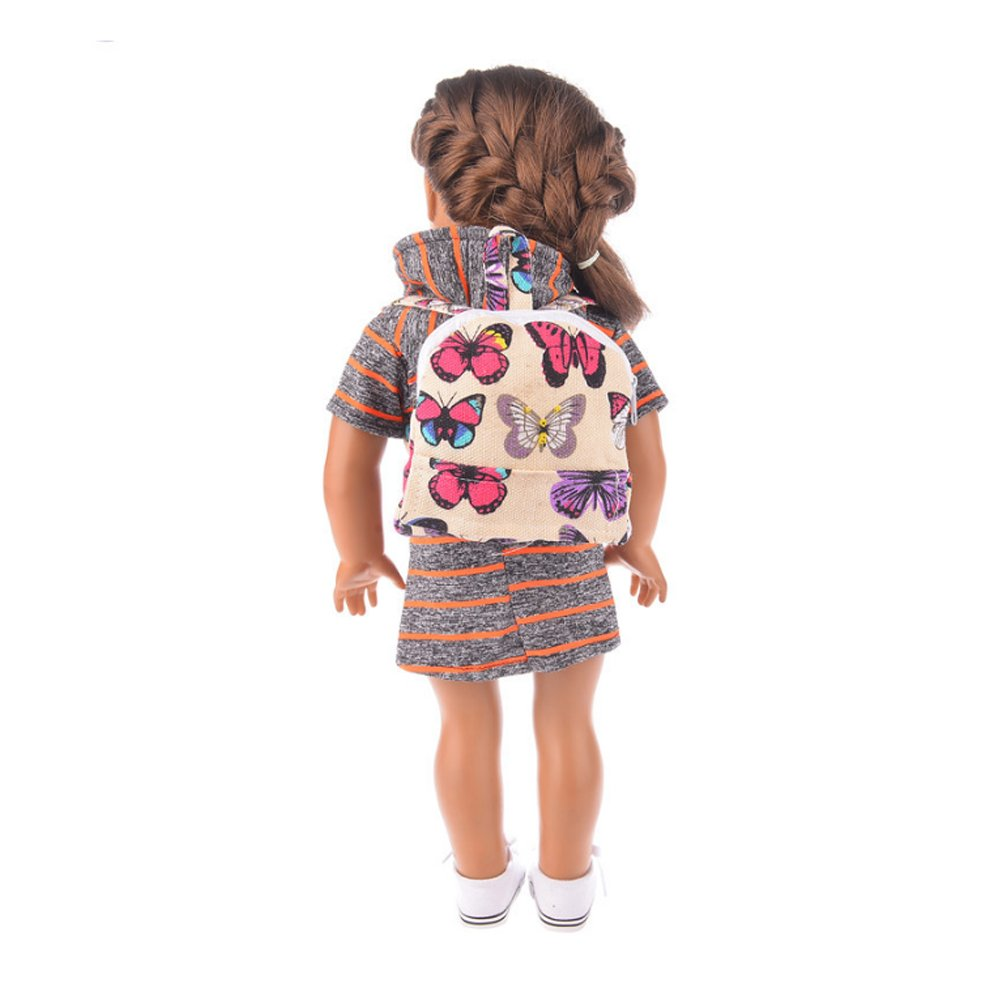 Rocita Cute Mini Double Straps Backpack Schoolbag For 18 Inch Our Generation American Girl 18 Inch Doll Accessories