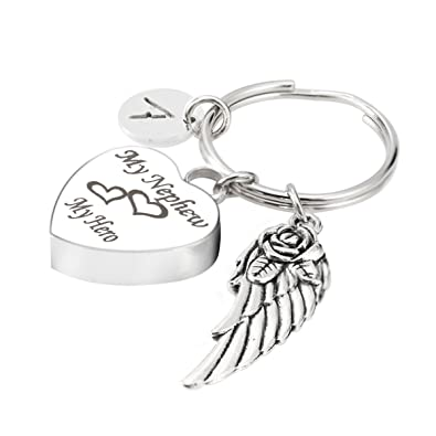Cremation Jewellery Ashes Urn with Folded Angel Wings charm Christmas Gifts