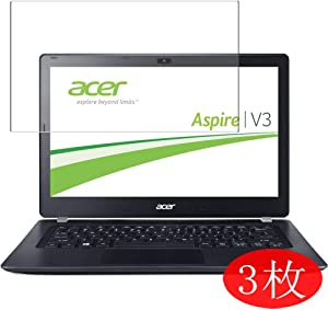 """【3 Pack】 Synvy Screen Protector for Acer Aspire V3-371 / V3-372 / V3-372T 13.3"""" TPU Flexible HD Film Protective Protectors [Not Tempered Glass]"""